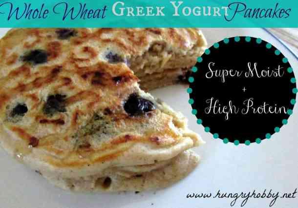 5 Whole Wheat Greek Yogurt Pancakes