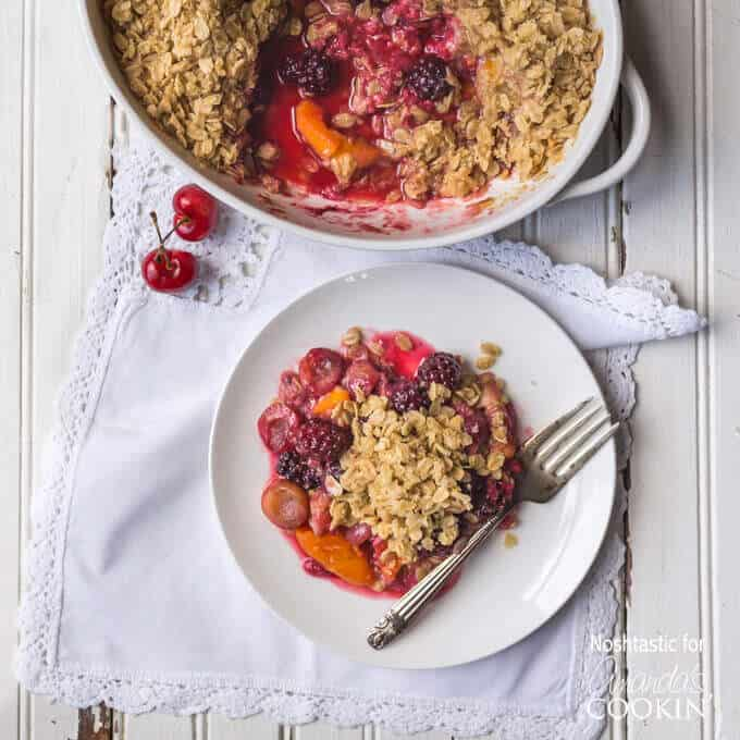 8 Summer Fruit Crisp