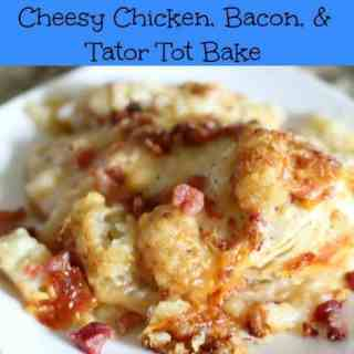 Crock Pot Cheesy Chicken Bacon Tater Tot Bake