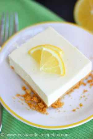 No Bake Lemon Jello Cheesecake