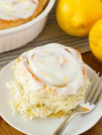 Lemon Poppy Seed Sweet Rolls