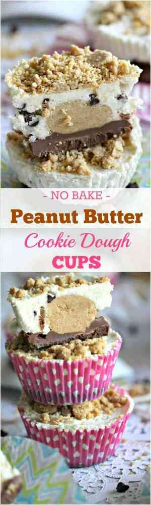 No-Bake Peanut Butter Cookie Dough Cups