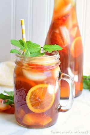 Spiked Peach Sweet Tea