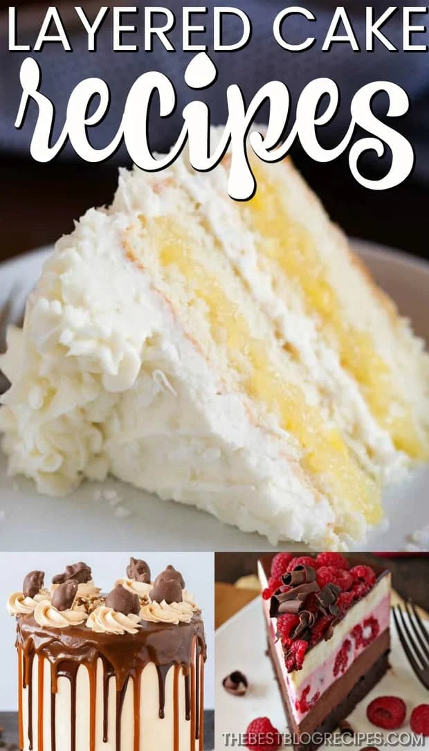 Easy Layer Cake Recipes are the way to go when you need a sweet and beautiful dessert. Not only is the flavor of these cakes amazing, but they are absolutely stunning to look at! Each of these cakes are showstoppers!