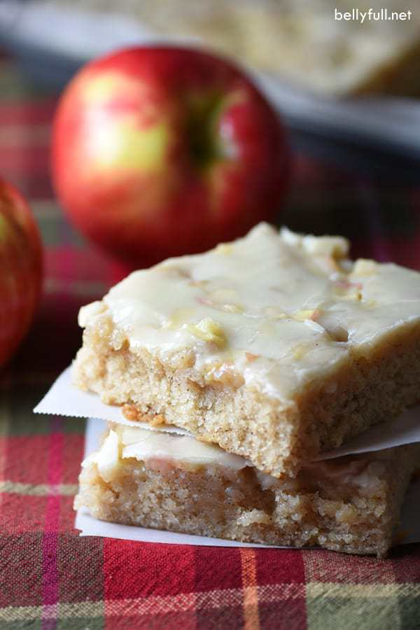 This Caramel Apple Sheet Cake is moist and buttery, with cinnamon and apples throughout. Plus a silky icing infused with caramel flavor that is to die for!