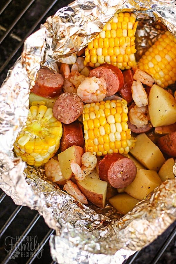 We love grilling up Cajun Style Grill Foil Packets. We can't get enough of the Cajun flavors with the grilled corn and sausage and shrimp, and there is NO MESS!!