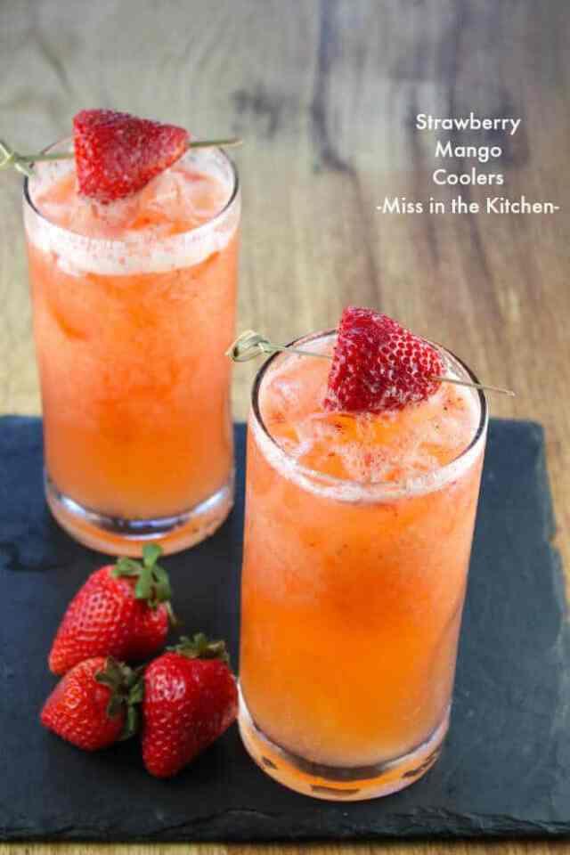 19 Strawberry Mango Coolers