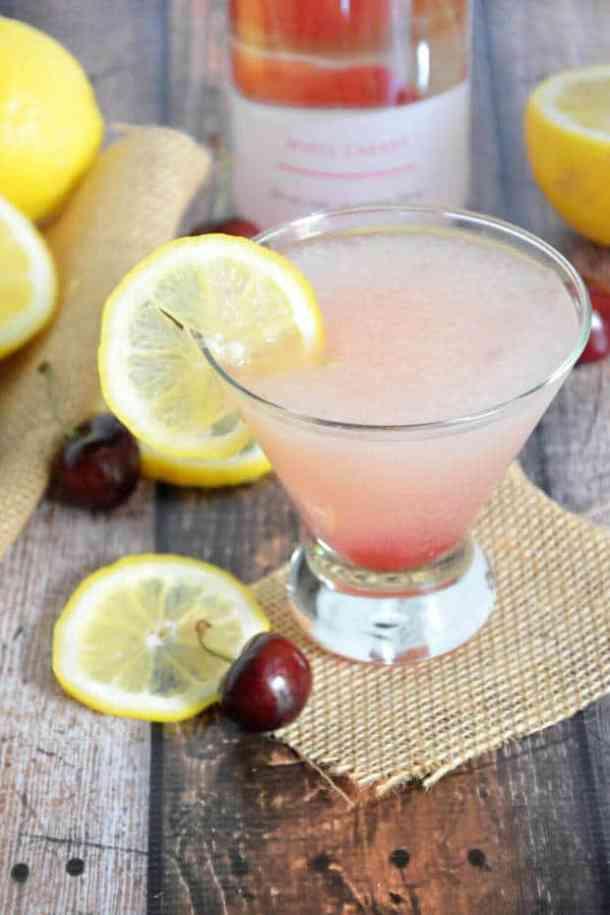 21 Spiked Cherry Lemonade Slushies