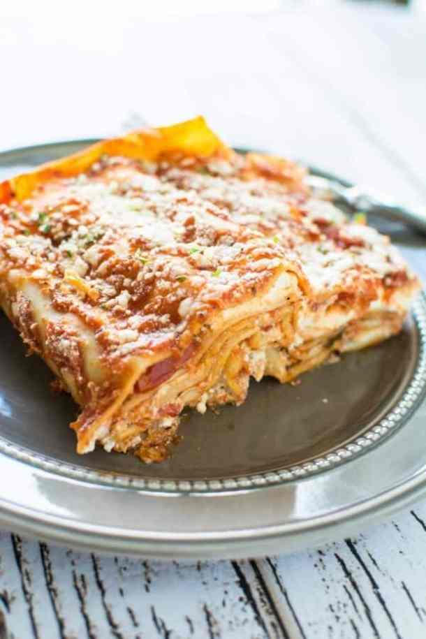 3 Ingredient Slow Cooker Lasagna--Part of The Best Lasagna Recipes