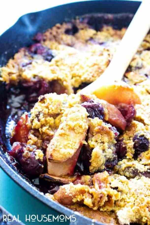 Apple Cherry Cobbler -- part of GRANDMA'S FAVORITE OLD FASHIONED COBBLER RECIPES