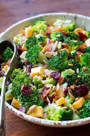Broccoli Salad with Lemon Poppy Seed Yogurt Dressing