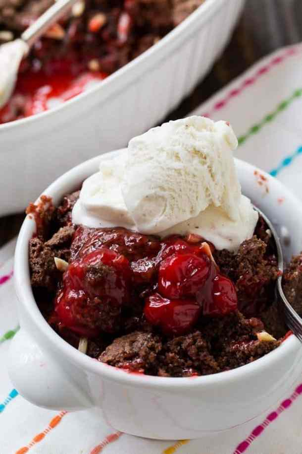 Cherry Chocolate Cobbler -- part of GRANDMA'S FAVORITE OLD FASHIONED COBBLER RECIPES