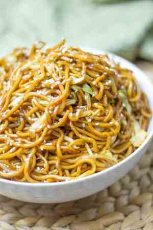 Classic Chinese Chow Mein Noodles