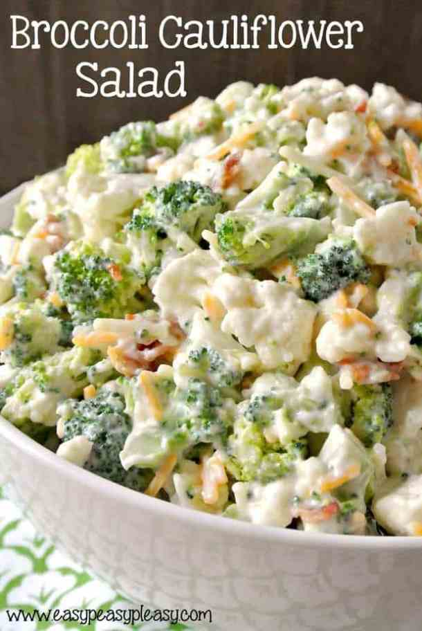 Deliciously Sweet Broccoli and Cauliflower Salad -- part of The Best Picnic and Potluck Recipes