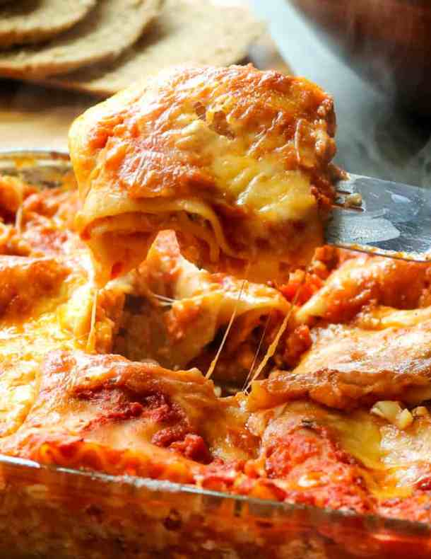 Easy Homemade Lasagna--Part of The Best Lasagna Recipes