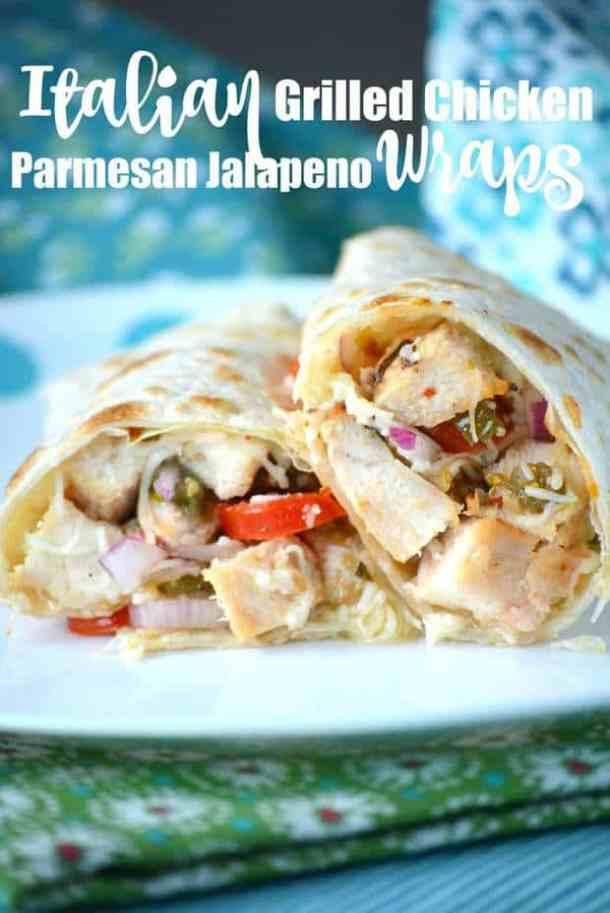 Italian Grilled Chicken Parmesan Jalapeno Wraps