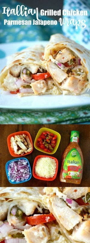 Itallian Grilled Chicken Parmesan Jalapeno Wraps