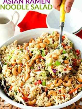 Simple Crunchy Asian Ramen Noodle Salad