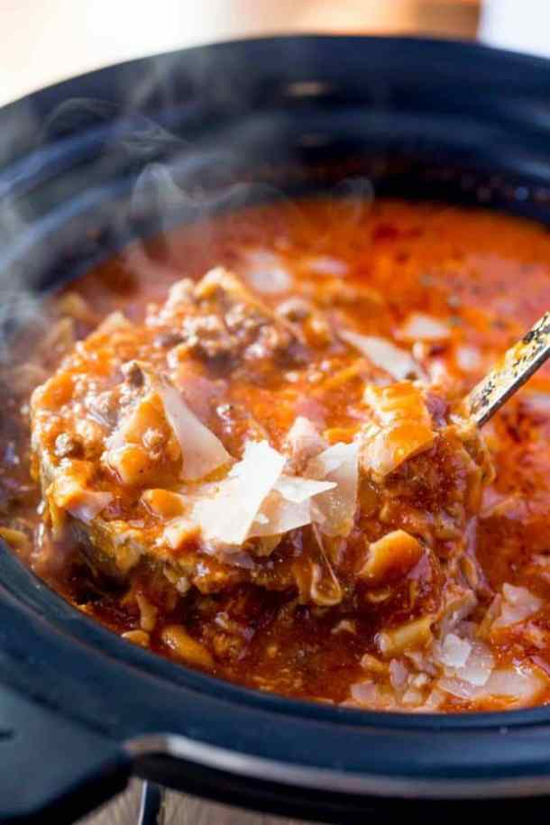 Slow Cooker Lasagna Soup--Part of The Best Lasagna Recipes