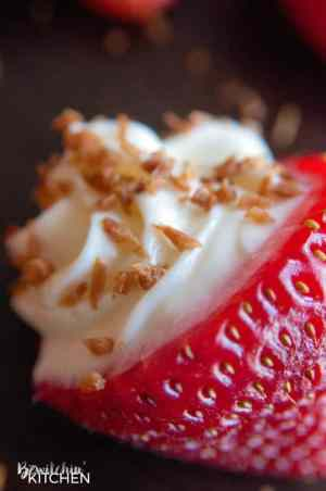 Coconut Cheesecake Stuffed Strawberries