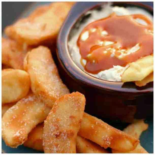 Apple Fries with Caramel Cream Dip Recipe
