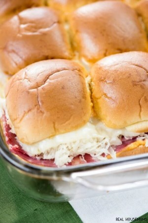 Baked Reuben Sliders