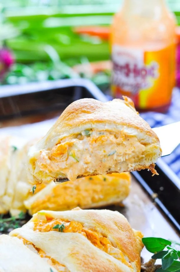 Buffalo Chicken Dip Crescent Ring --Part of 25+ Favorite Buffalo Flavored Recipes