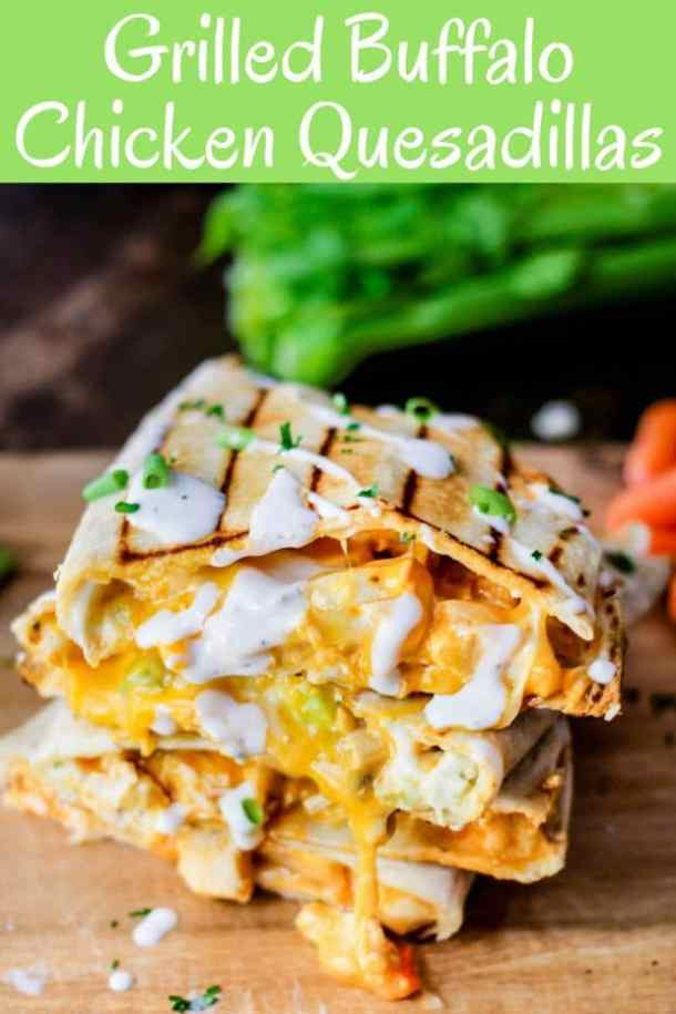 Buffalo Chicken Quesadillas --Part of 25+ Favorite Buffalo Flavored Recipes