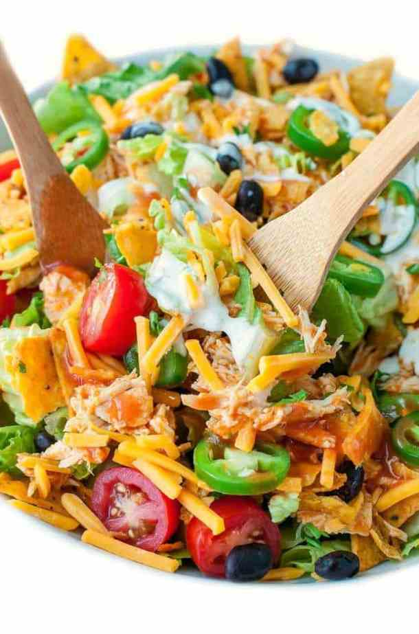 Buffalo Chicken Taco Salad --Part of 25+ Favorite Buffalo Flavored Recipes
