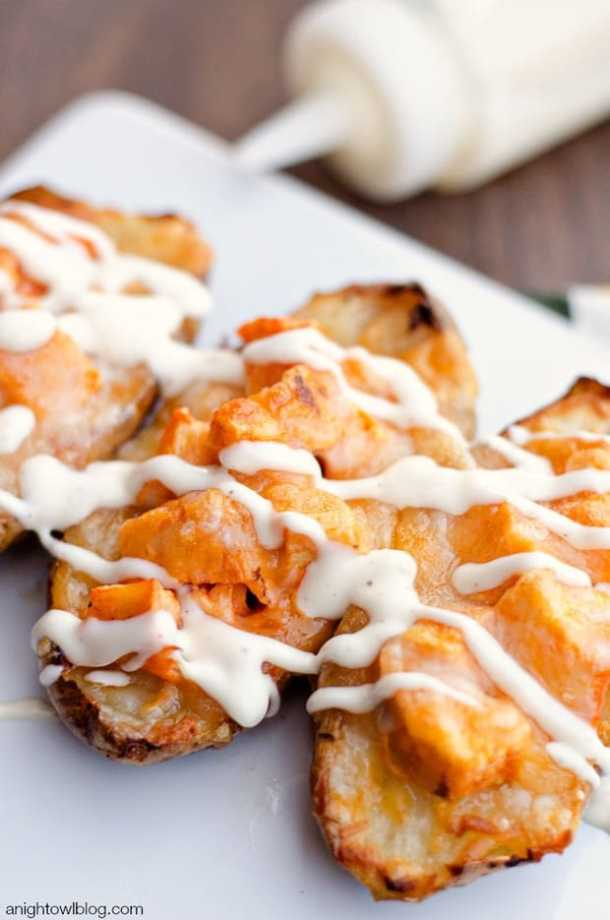 Buffalo Chicken Twice Baked Potatoes --Part of 25+ Favorite Buffalo Flavored Recipes