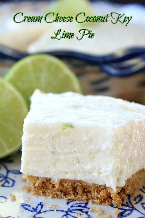 Cream Cheese Coconut Key Lime Pie - The Best Blog Recipes