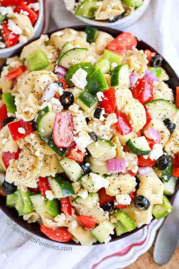Greek Tortellini Salad -- part of The Best Picnic and Potluck Recipes