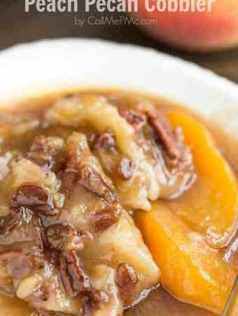 Peach Pecan Cobbler