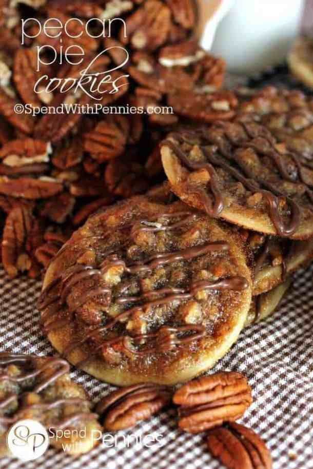 Pecan Pie Cookies -- part of 21+ Pecan Recipes Perfect for Fall Baking