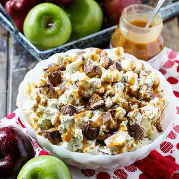 SNICKERS CARAMEL APPLE SALAD -- part of 19 MUST MAKE APPLE RECIPES FOR FALL