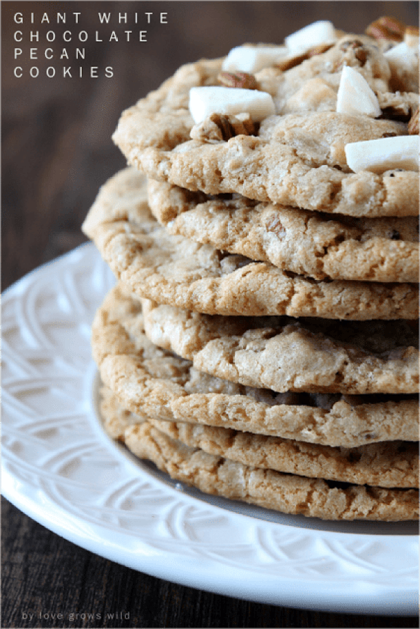 WHITE CHOCOLATE PECAN COOKIES