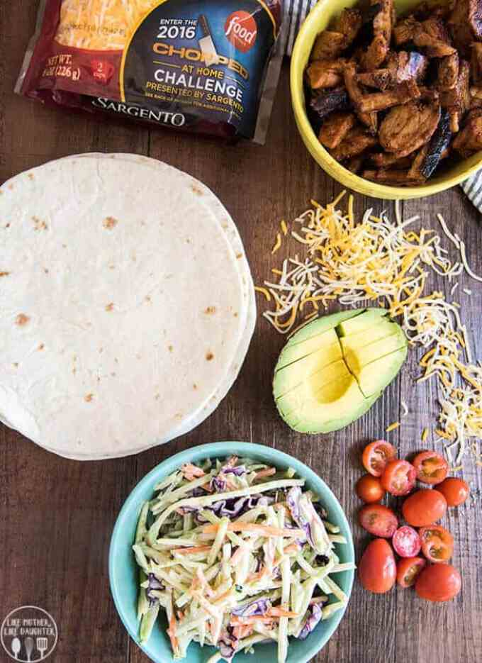BBQ Pork Tacos with Broccoli Slaw