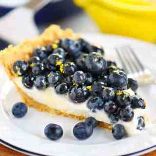No Bake Blueberry Lemon Cream Pie