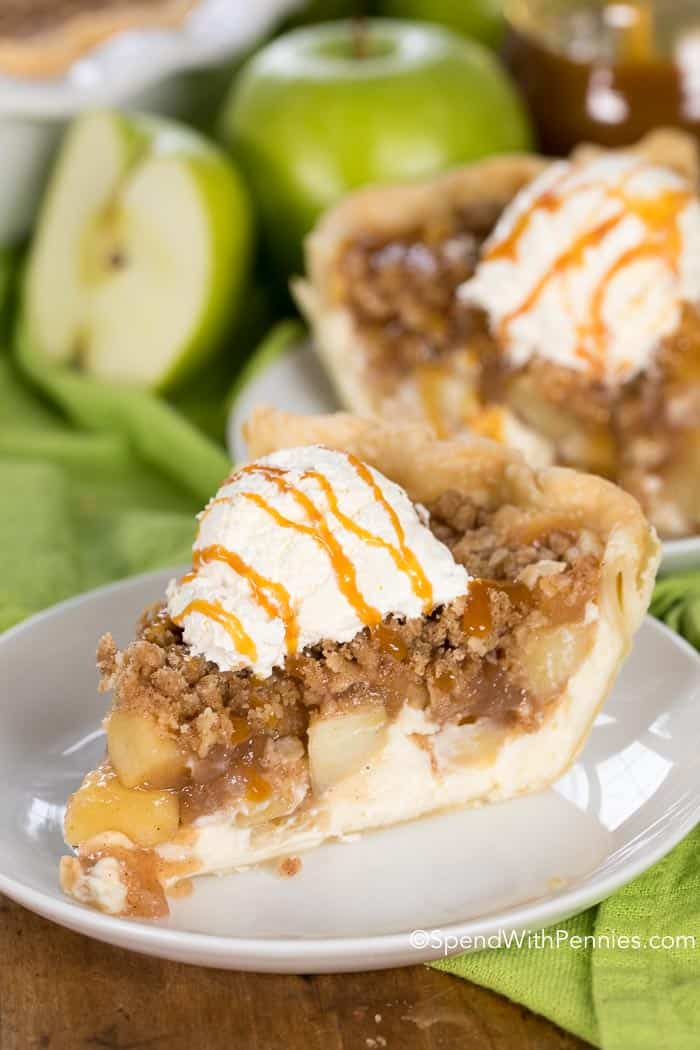 Apple Cheesecake Pie is a fun twist on two all time favorite desserts; cheesecake and apple pie!