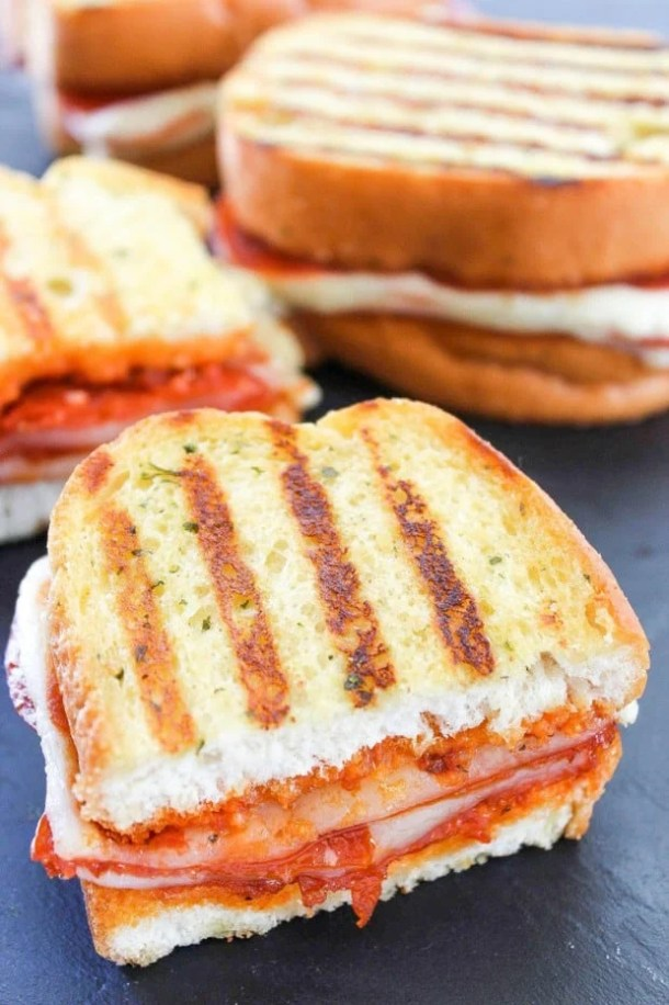 12 Pepperoni Pizza Grilled Cheese Sandwich