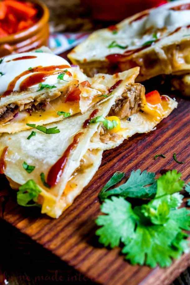 BBQ Pork Quesadillas--Part of THe Best Quesadillas Recipes