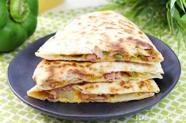 Hawaiian Quesadillas--Part of THe Best Quesadillas Recipes