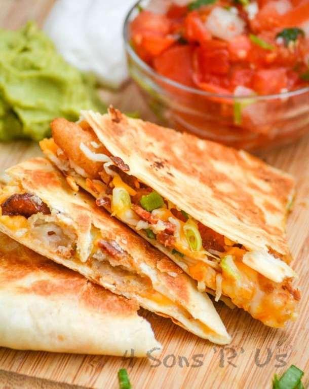 Shrimp and Bacon Quesadillas--Part of THe Best Quesadillas Recipes