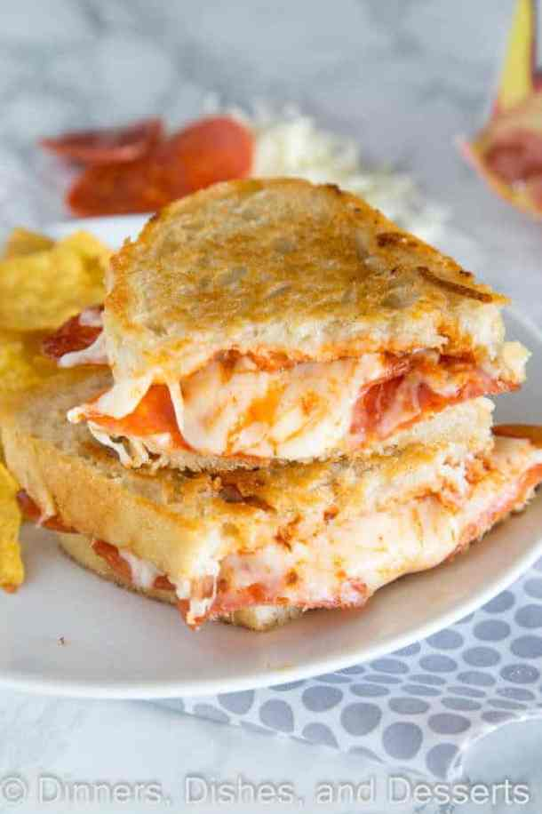 6 Pepperoni Pizza Grilled Cheese21+ Grilled Cheese Sandwiches that your family will go CRAZY for!