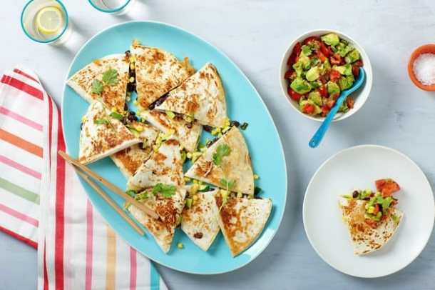 Grilled Corn, Zucchini, and Black Bean Quesadillas--Part of THe Best Quesadillas Recipes