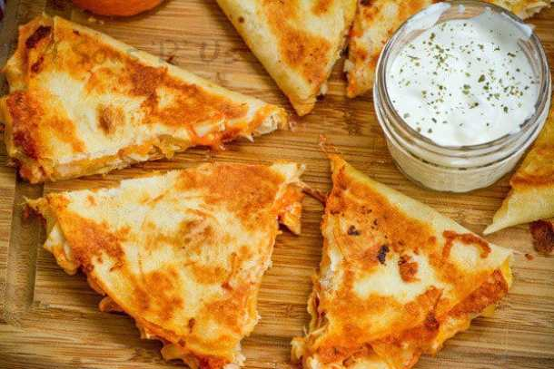Extra Cheesy Buffalo Chicken Quesadillas--Part of THe Best Quesadillas Recipes