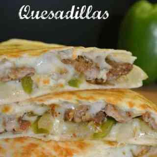 Cheese Steak Quesadillas