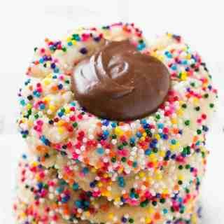Chocolate Fudge Cookies with Sprinkles