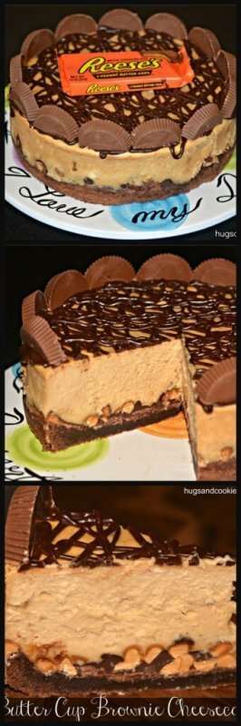 REESE'S PEANUT BUTTER CUP CHEESECAKE BROWNIE CRUST