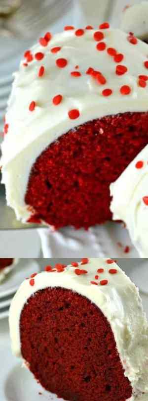 Red Velvet Bundt Cake Long Pin